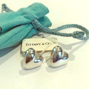 Tiffany & Co. Puffy Heart Earrings Sterling Silver